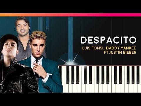 """Despacito"" - Louis Fonsi Daddy Yankee Justin Bieber Piano Tutorial - Chords  Cover"