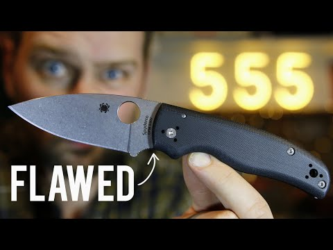 The Spyderco Shaman is Overrated: Knife Review & Comparison by 555 Gear