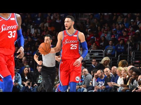 Ben Simmons Triple Double! Comeback Down 24 vs Heat! 2017-18 Season