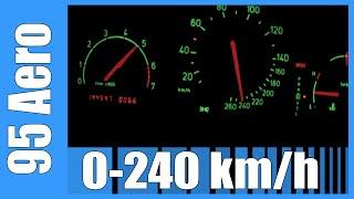 Saab 95 2.3T Aero 0-240 km/h GREAT! Acceleration Beschleunigung Autobahn Test