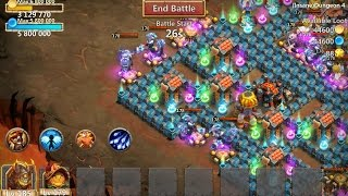 castle clash insane dungeon 4 10 2 heroes only 3 flames f2p