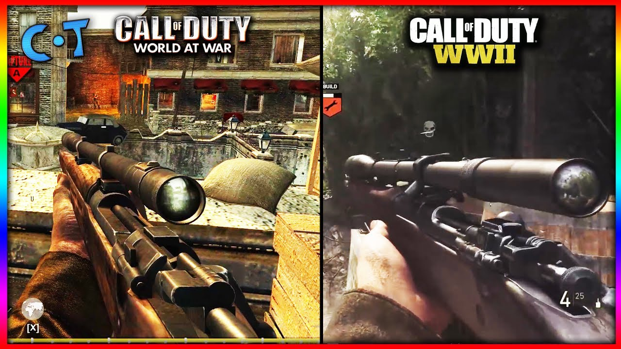 Call Of Duty WW2 vs Call Of Duty World At War - YouTube