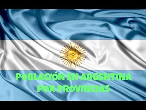 Población en Argentina por provincias