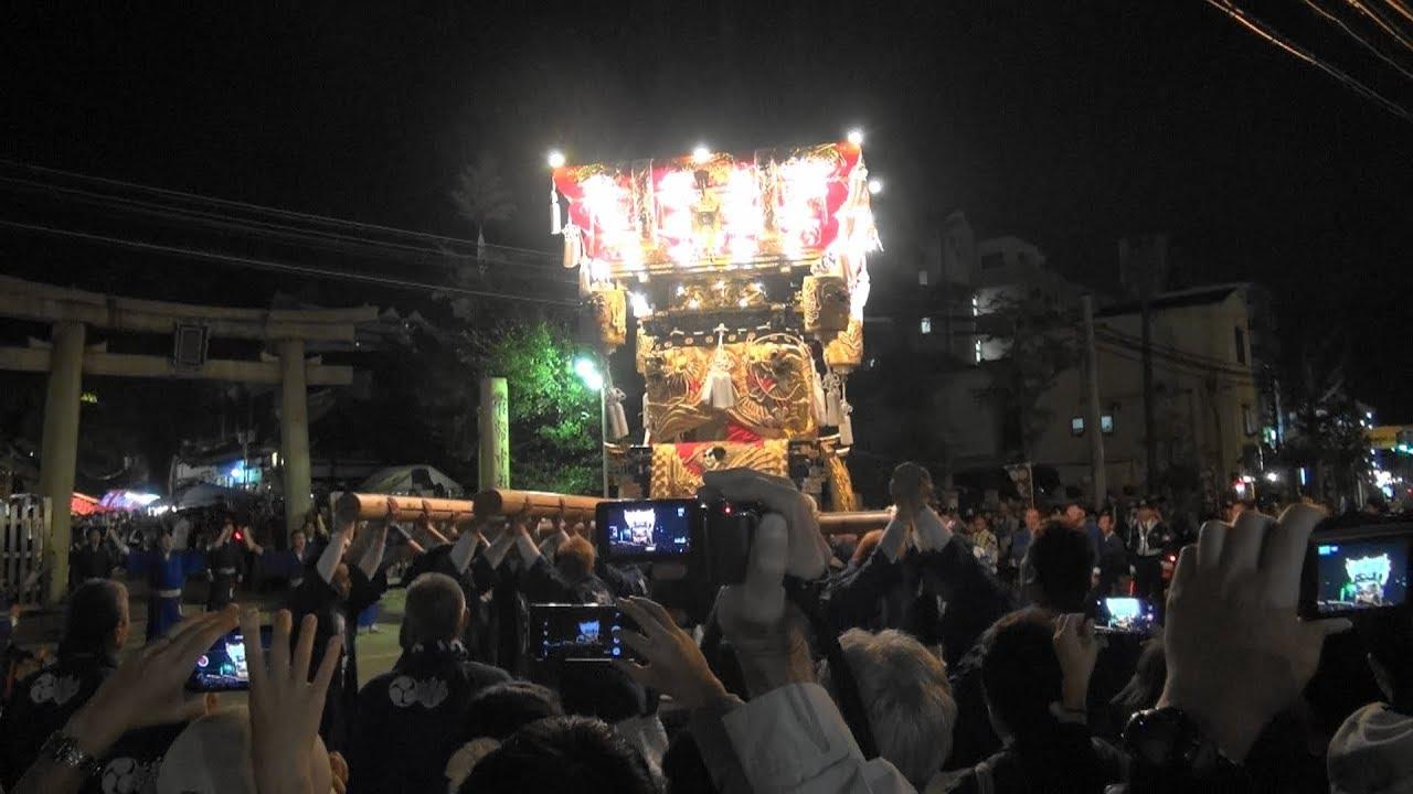 2018年10月12日神戸市垂水區海神社布団太鼓宮入・宮出・・ - YouTube