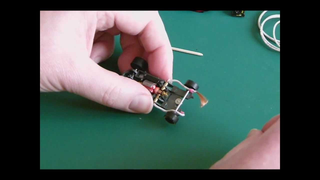 mounting pickup braid wires at a ho slotcar  wiring ho slot car #10