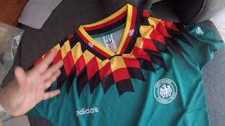 Germany 1994 Jersey Adidas Away Kitme Unboxng 1:1 Quality
