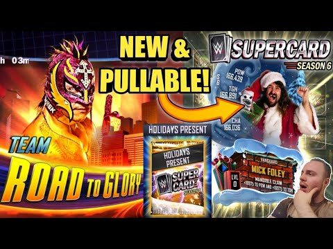 Wwe Supercard Christmas 2020 Start Time NEW CHRISTMAS MICK FOLEY CARD, TEAM ROAD TO GLORY + HOLIDAY