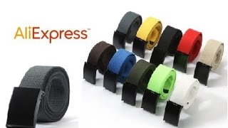 Видео-обзор с Aliexpress - Ремень унисекс (брезент, холст)