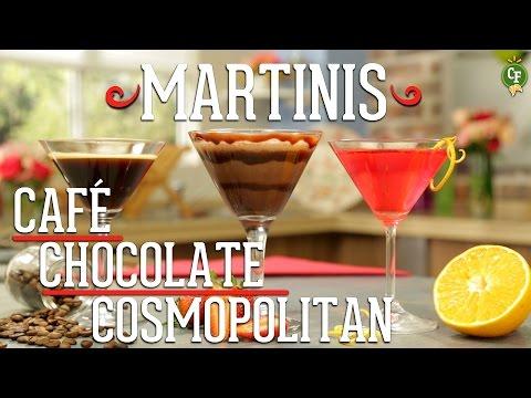 ¿Cómo preparar Martinis de Café, Chocolate y Cosmopolitan?  Cocina Fresca