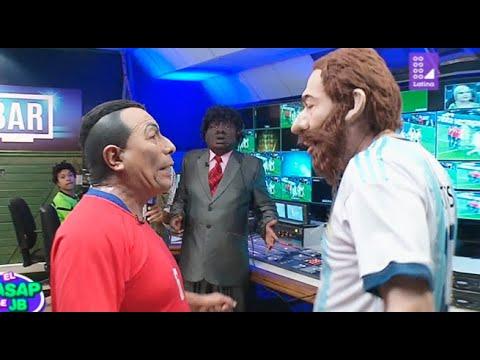 Messi y Medel llevaron su discusión hasta la sala del VAR dirigido por el señor Mama