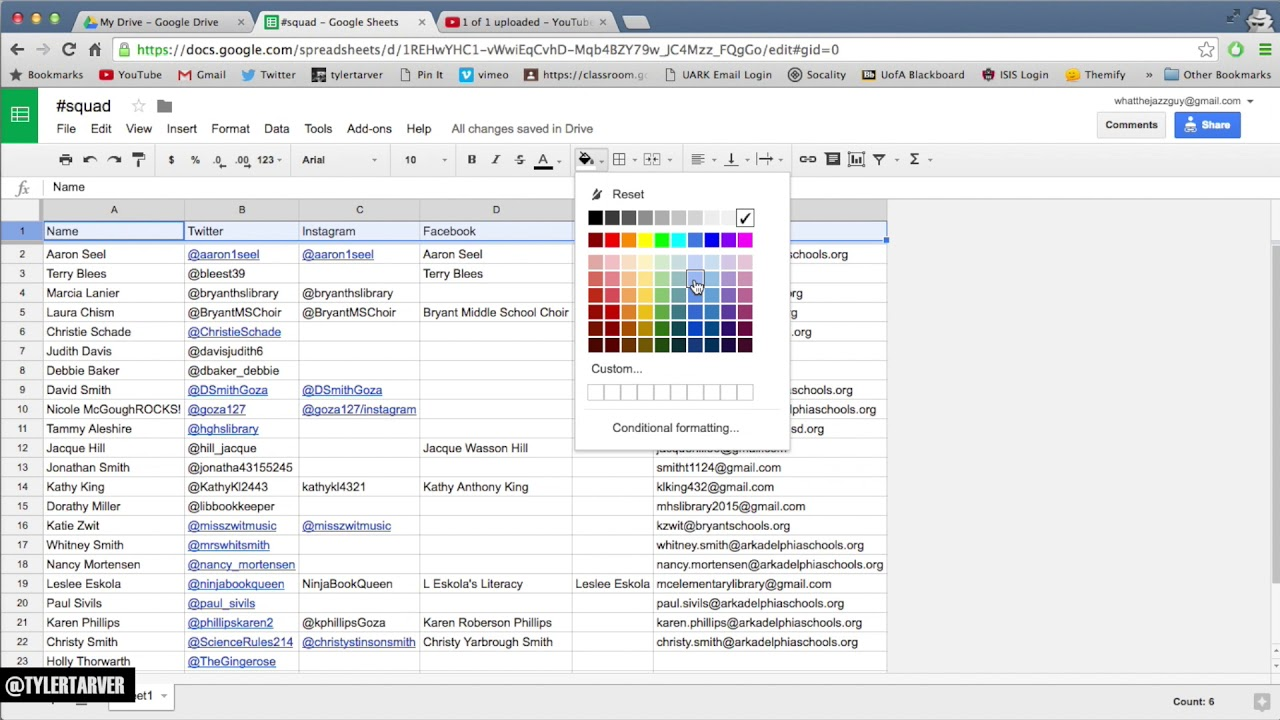 How to color in google docs - Changing Cell Fonts Color Google Sheets Help
