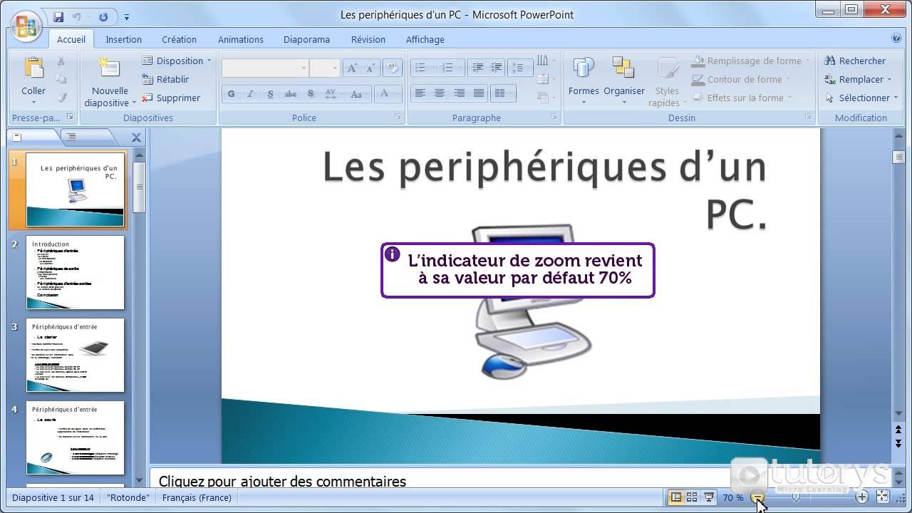 comment faire un zoom sur une pr u00e9sentation powerpoint 2007