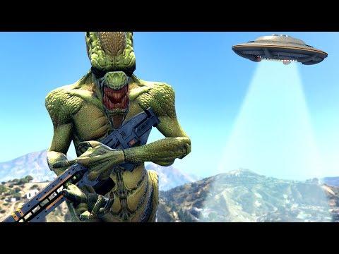 ALIEN INVASION GTA 5 MOD!