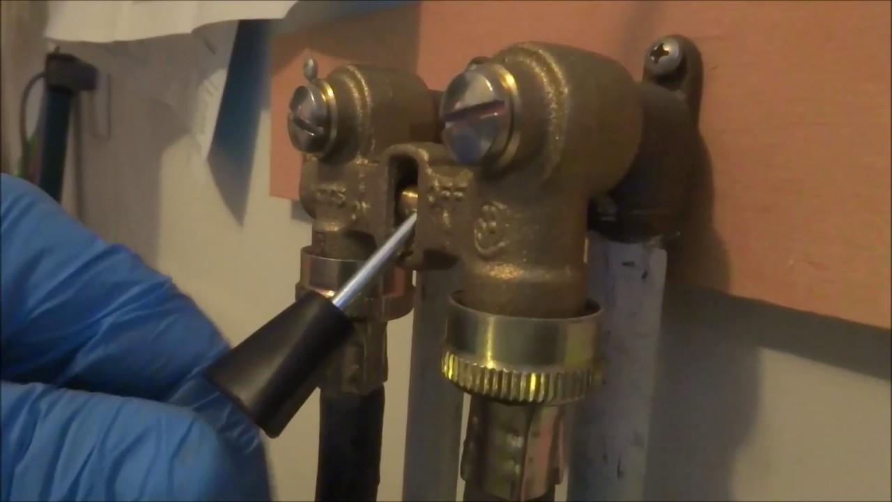 leaking washer machine valve fixed - YouTube