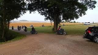 Aankomst BMW Monoclub bij Fort de Peigney (Haute-Marne)