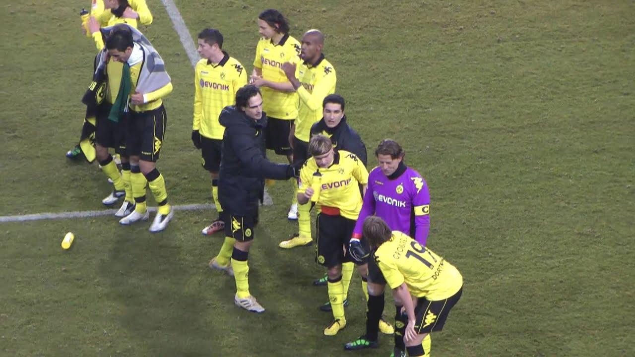 """VfL Wolfsburg - BVB 0:3 Wir woll""""n den Derbysieg 29.01.2011"""
