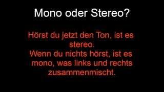 Mono oder Stereo Test