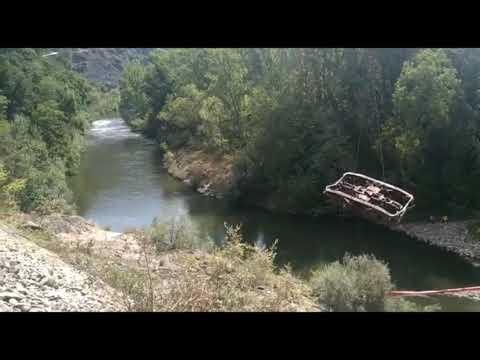Retirada de los vagones del río Sil