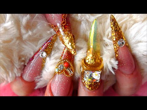 EXTRA LONG INDIAN WEDDING SCULPTED ACRYLIC NAILS | ABSOLUTE NAILS