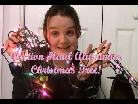 $5 Auction Christmas Haul Aluminum Christmas Tree