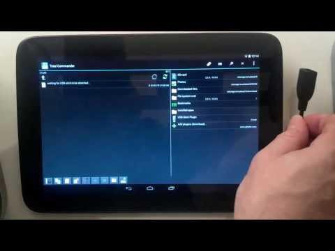 Nexus 10 USB OTG - Total Commander + USB Stick Plugin