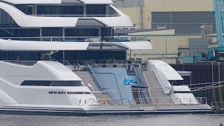 4K | Mega Yacht AL LUSAIL - former Project JUPITER - Tender test drives