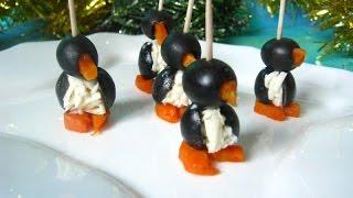 Закуска 'Пингвины на льдине'