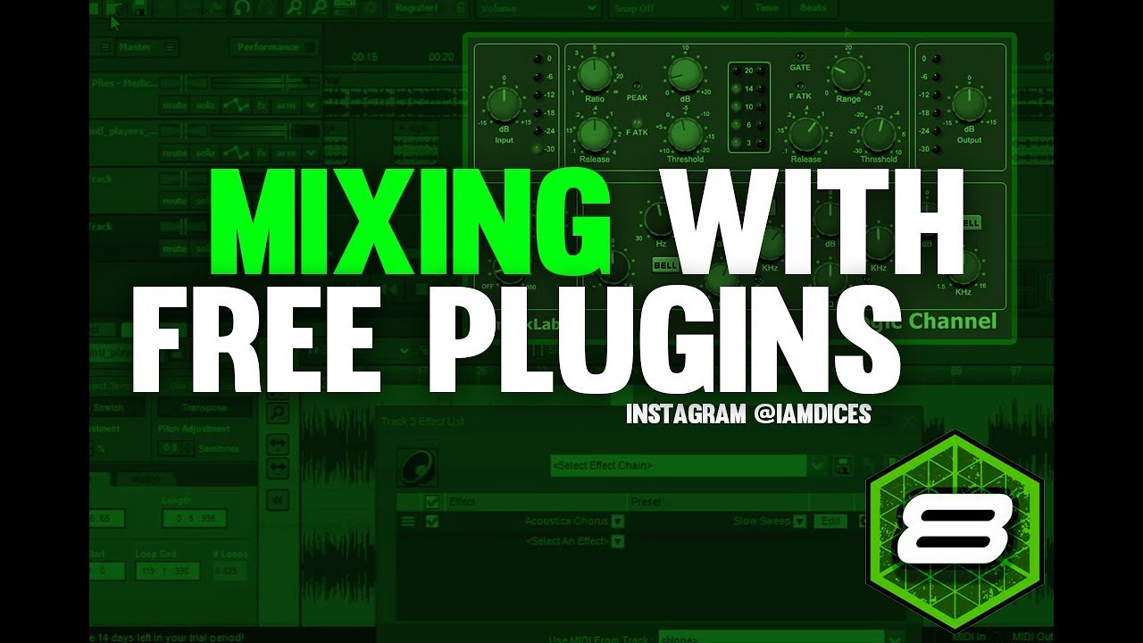 Mixing Vocals w/ Free Plugins Mixing in Mixcraft 8