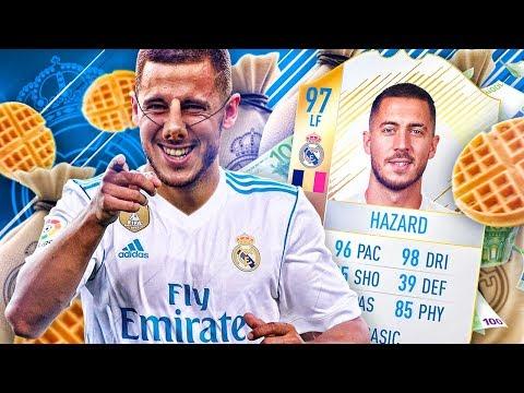 125 MILLION MAN?! THE REAL MADRID HAZARD! MADRID TRANSFER SQUAD FIFA 18 ULTIMATE TEAM thumbnail