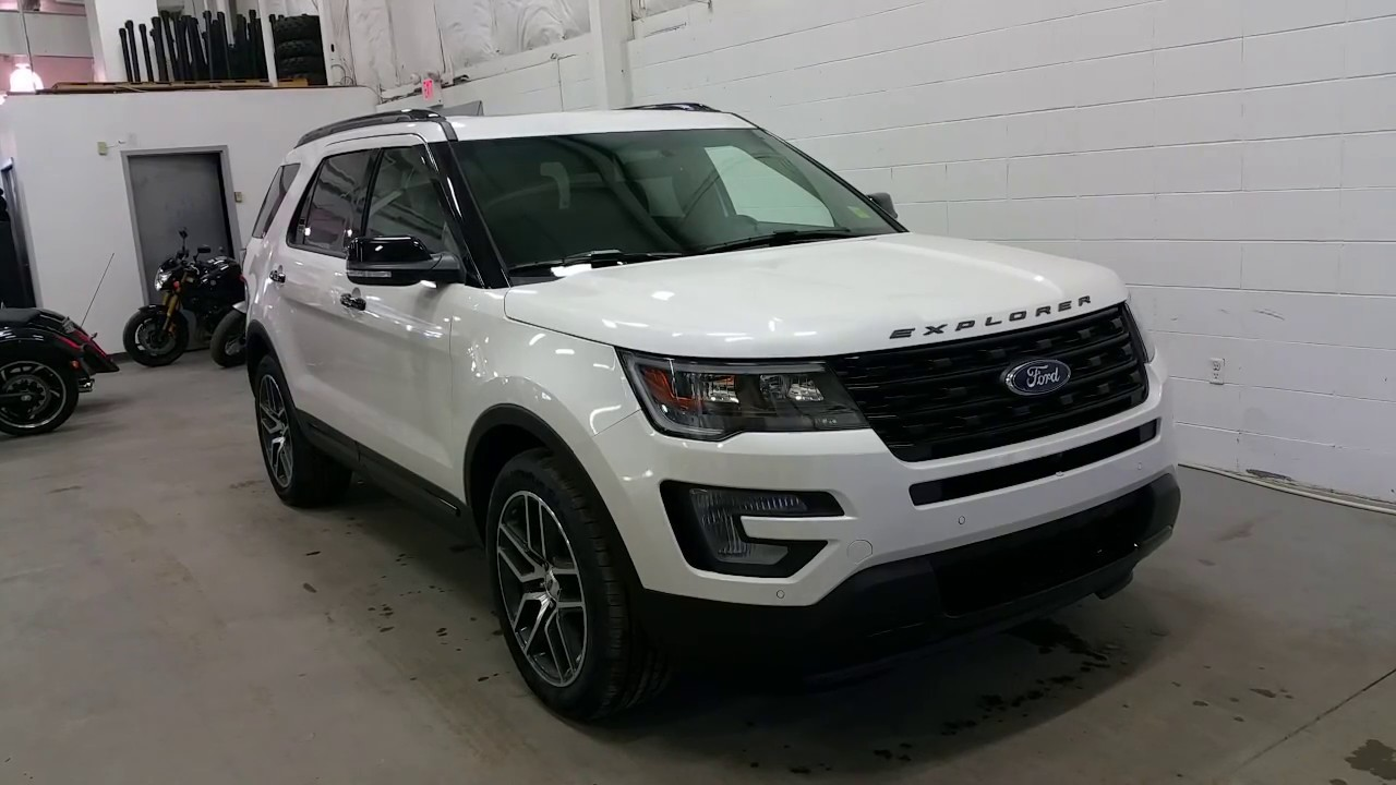 2017 Ford Explorer Sport W Ecoboost 20 Rims Roof Rack Review Boundary