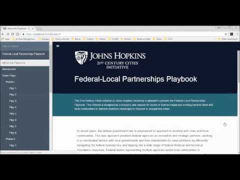 Innovation Exchange: Federal Local Partnerships Playbook