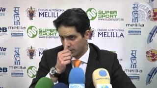 Rueda de prensa Antonio Herrera vs Melilla Baloncesto (ORO 12/13 - J24)