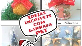 Ideias incríveis com garrafa PET para o Natal