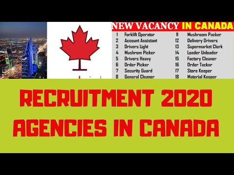 Top Recruitment Agencies In Canada Recruiting Foreign Workers 2020