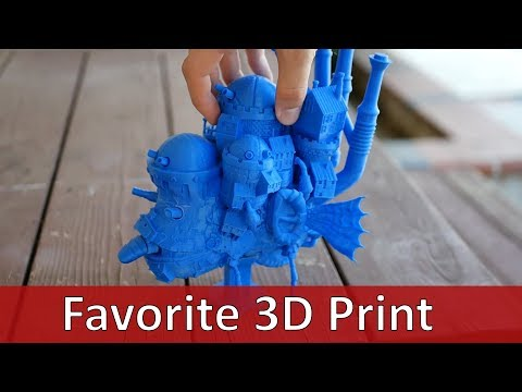 My Favorite 3D Print To Date   Howls Moving Castle By CMAG
