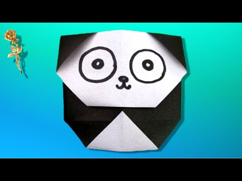 Origami Facile Panda Youtube