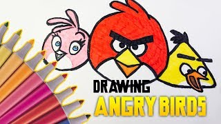 Angry Birds team | Drawing and coloring for kids! | Mirageplace
