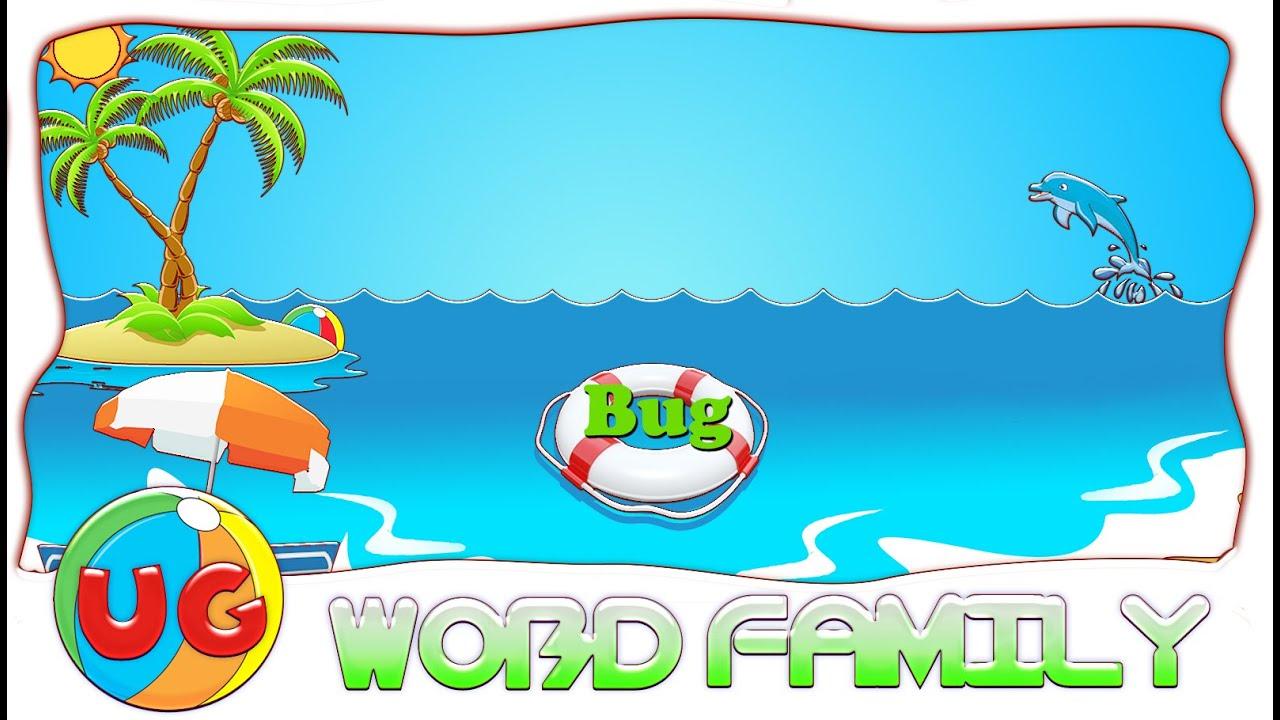 Make A Word With Ug Ug Word Family Ug Rhyming Words