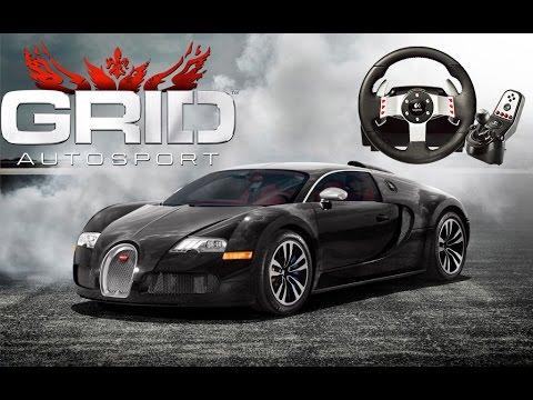 Direksiyon Seti ile Grid Autosport // Bugatti Veyron[Sokak Yarışları][Bölüm 2]