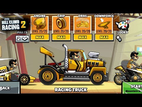 Hill Climb Racing 2 - New Vehicle RACING TRUCK Fully Upgraded