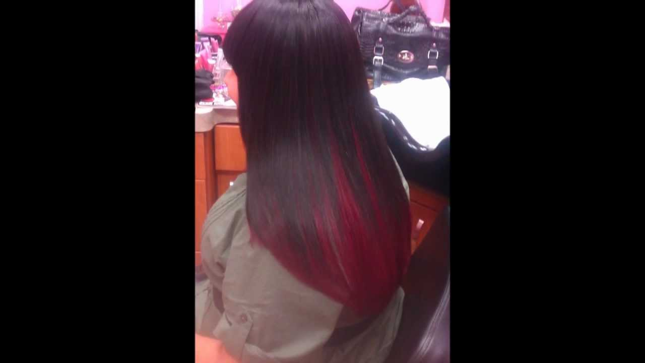 Full Sew In With Red Bobbi Boss Hair Youtube