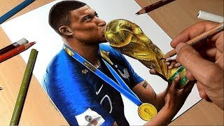Drawing Kylian Mbappé - World Cup 2018