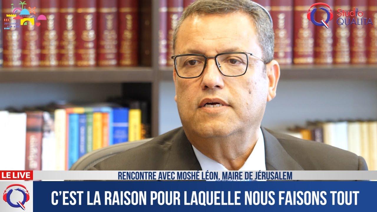 Entretien avec Moshe Leone, maire de Jérusalem
