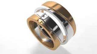 Оригинальные обручальные кольца из белого и желтого золота.(, 2013-07-02T14:38:47.000Z)