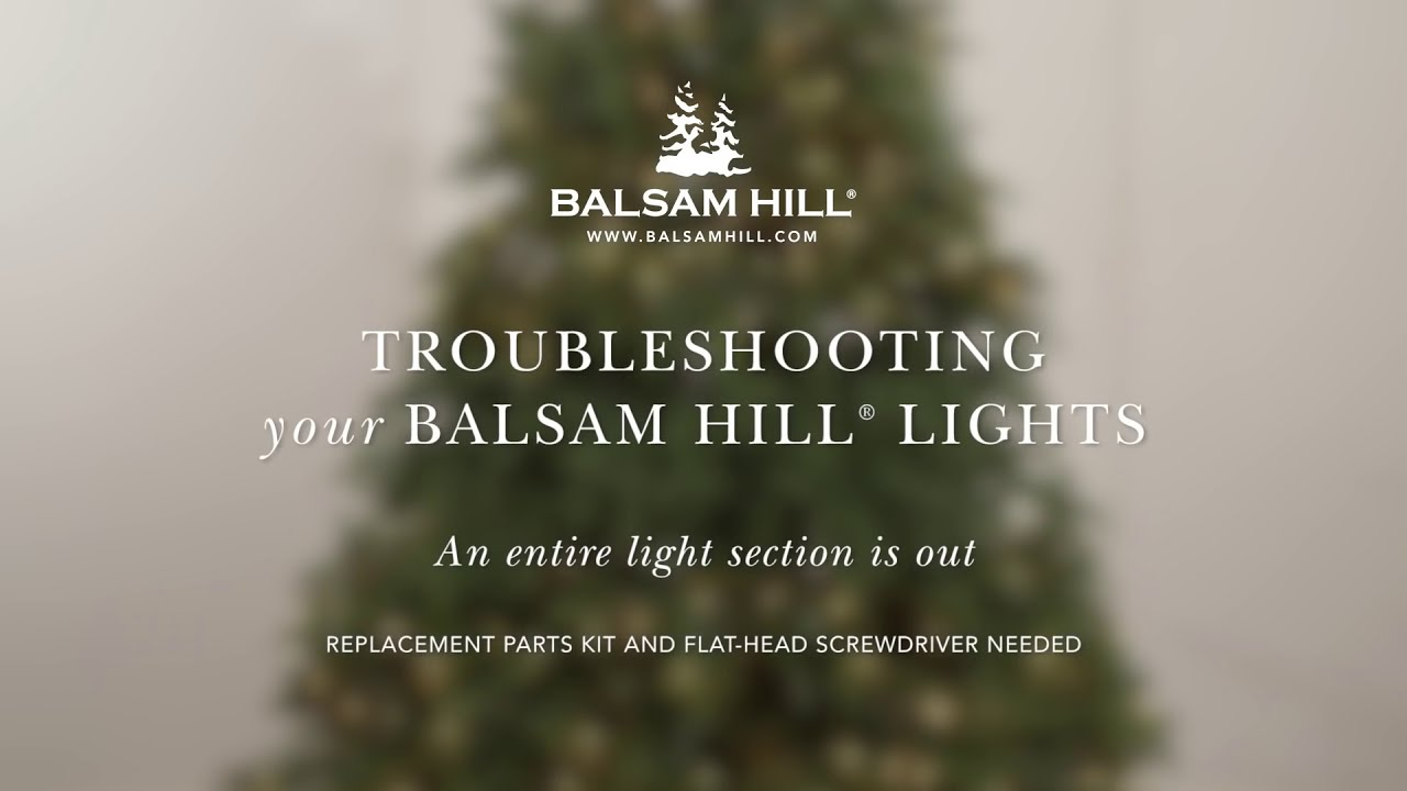 Troubleshooting Your Light Section from Balsam Hill™ - YouTube