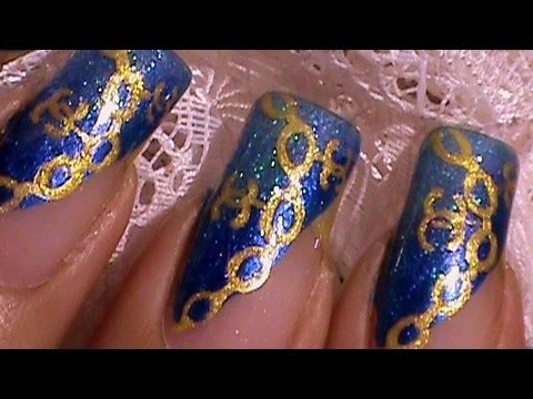 Coco Chanel Logo Gold Charm Bracelet Nail Art Design Tutorial Youtube