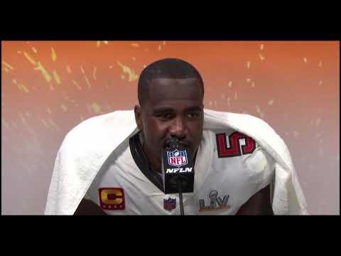 Lavonte David Postgame Super Bowl LV Chiefs vs Bucs