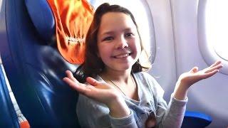 Видео для детей. Лучшая подружка Настя и майнкрафт блоггер Адриан летят в Санкт-Петербург.