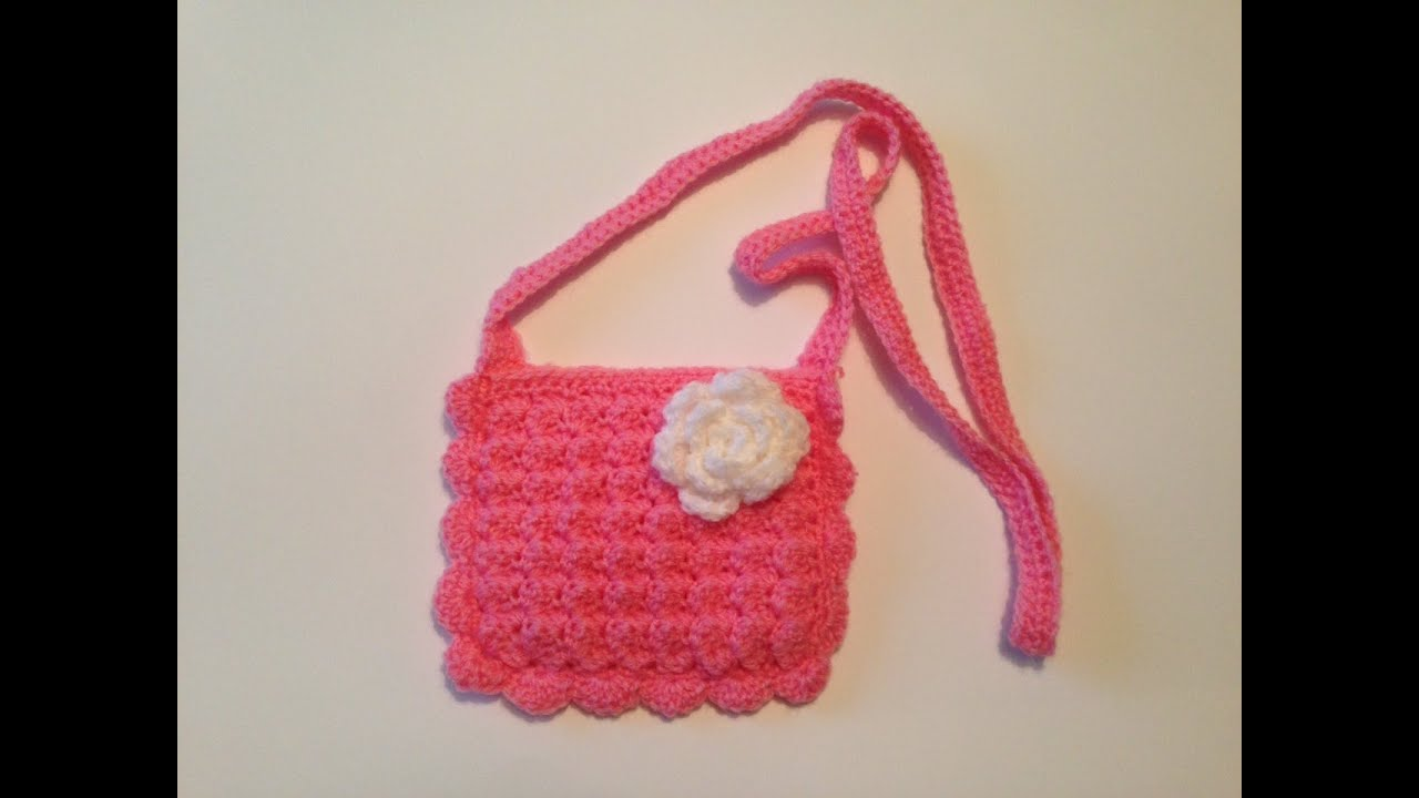 how to crochet little purse - YouTube