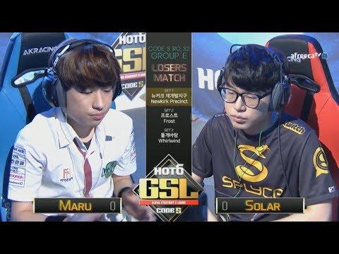 [2017 GSL Season 3]Code S Ro.32 Group E Match4 Maru vs Solar